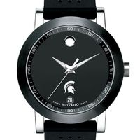 Michigan State Men's Movado Museum Sport Rubber Strap