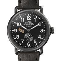 FSU Shinola Watch, The Runwell 41mm Black Dial