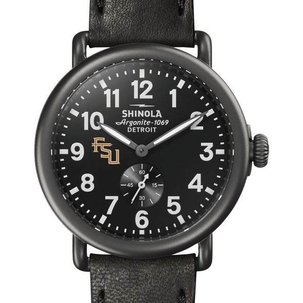 FSU Shinola Watch, The Runwell 41mm Black Dial - Image 1