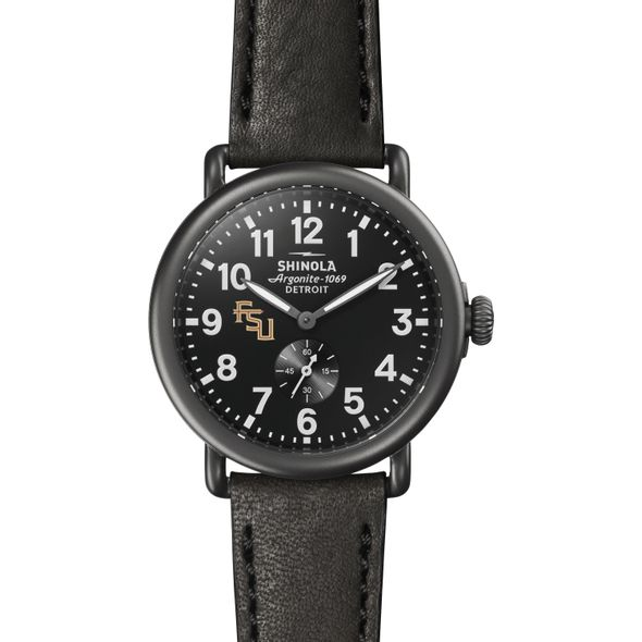 FSU Shinola Watch, The Runwell 41mm Black Dial - Image 2