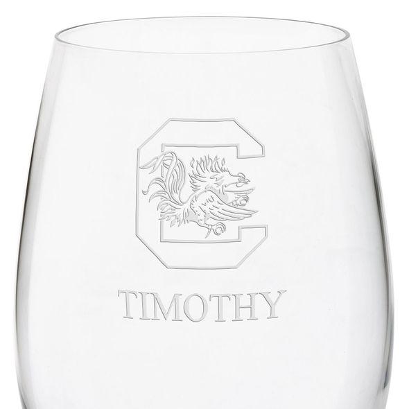 University of South Carolina Red Wine Glasses - Set of 4 - Image 3
