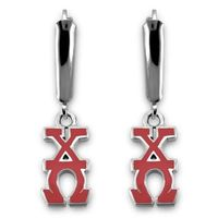 Chi Omega Greek Letter Earrings