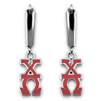 Chi Omega Greek Letter Earrings