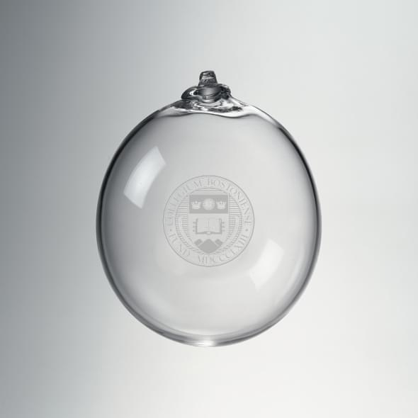 Boston College Glass Ornament by Simon Pearce