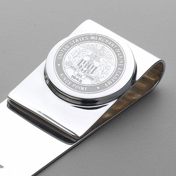 Merchant Marine Academy Sterling Silver Money Clip - Image 2