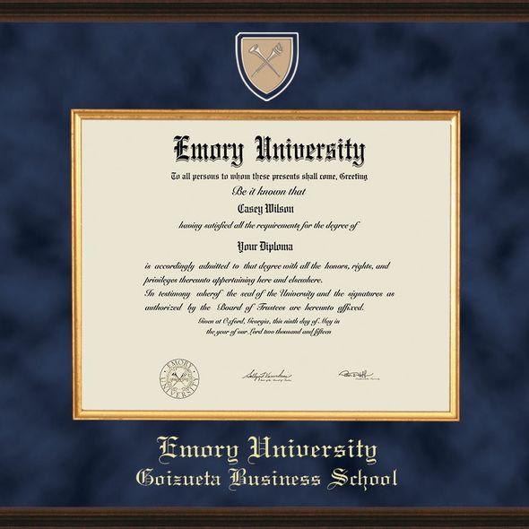 Emory Goizueta Diploma Frame - Excelsior - Image 2