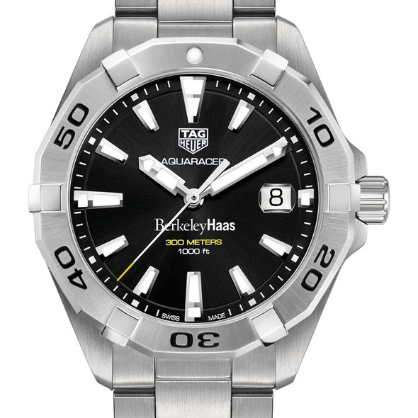 Berkeley Haas Men's TAG Heuer Steel Aquaracer with Black Dial - Image 1