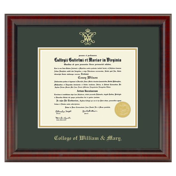College of William & Mary Diploma Frame, the Fidelitas