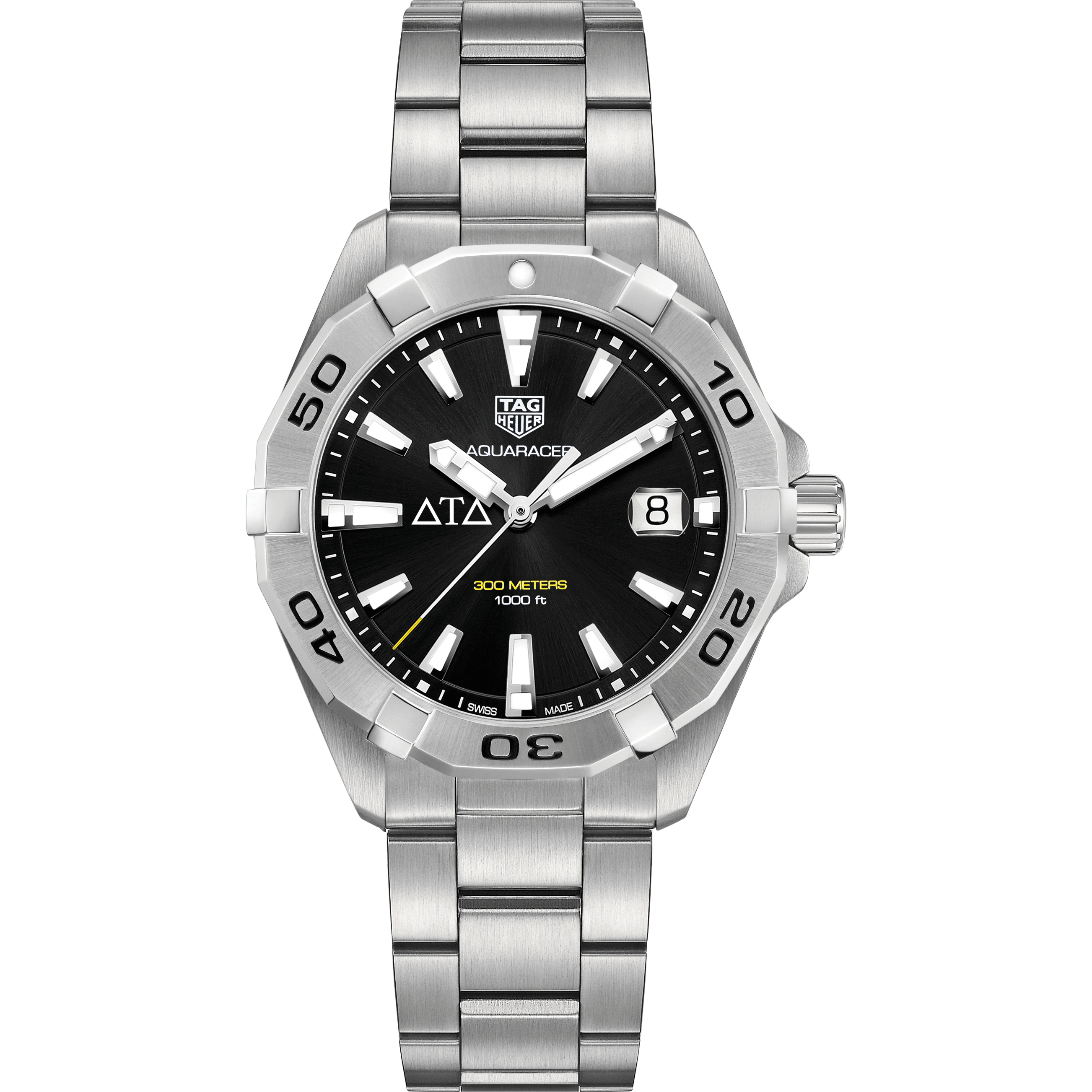 Delta Tau Delta Men's TAG Heuer Steel Aquaracer with Black Dial - Image 2