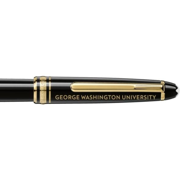 George Washington University Montblanc Meisterstück Classique Rollerball Pen in Gold - Image 2