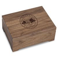 Michigan State University Solid Walnut Desk Box