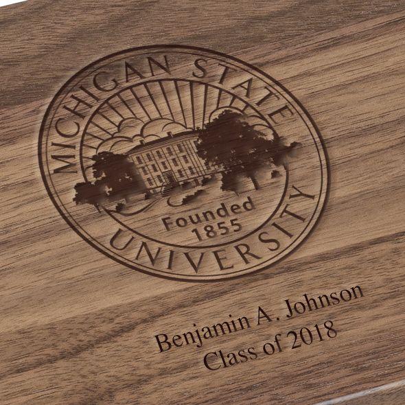 Michigan State University Solid Walnut Desk Box - Image 3