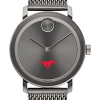 Southern Methodist University Men's Movado BOLD Gunmetal Grey with Mesh Bracelet