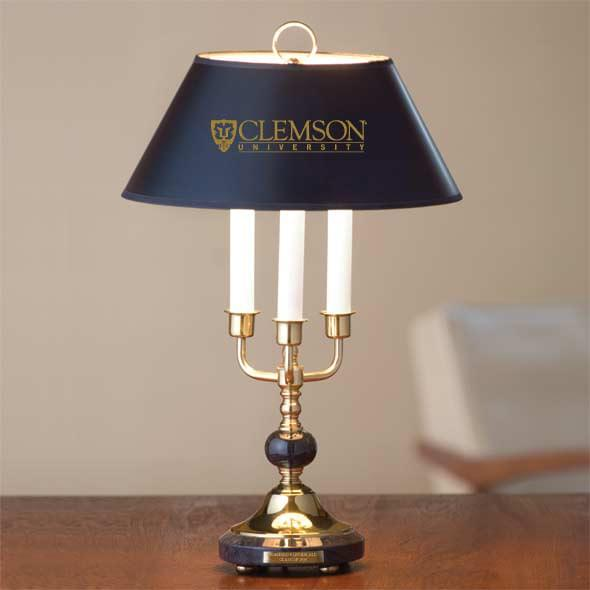 Clemson Lamp in Brass & Marble - Image 2