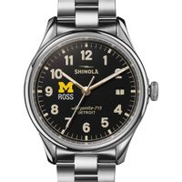 Michigan Ross Shinola Watch, The Vinton 38mm Black Dial
