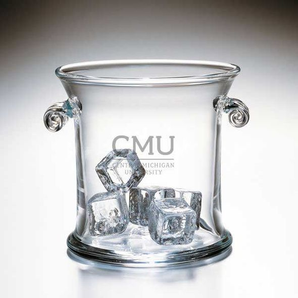 Central Michigan Glass Ice Bucket by Simon Pearce