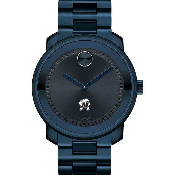 University of Maryland Men's Movado BOLD Blue Ion with Bracelet - Image 2