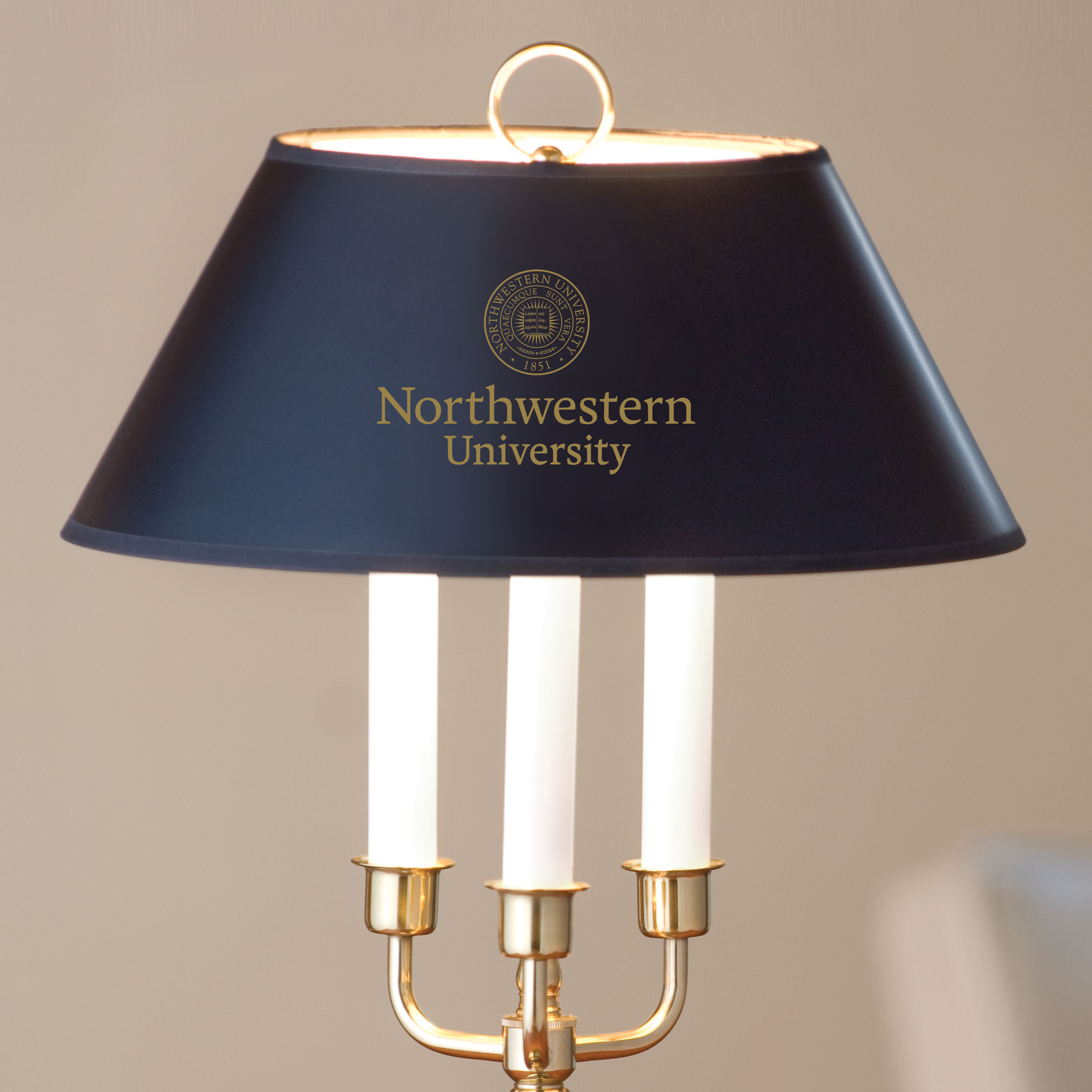 Northwestern University Lamp in Brass & Marble - Image 2