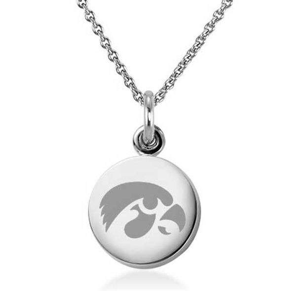 University of Iowa Necklace with Charm in Sterling Silver - Image 2