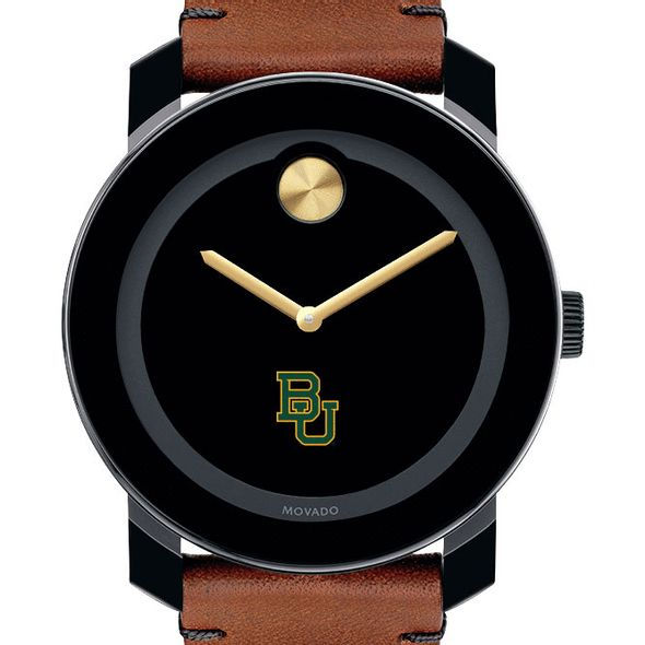 Baylor University Men's Movado BOLD with Brown Leather Strap