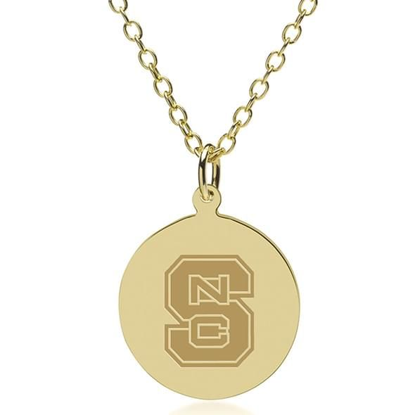 NC State 14K Gold Pendant & Chain