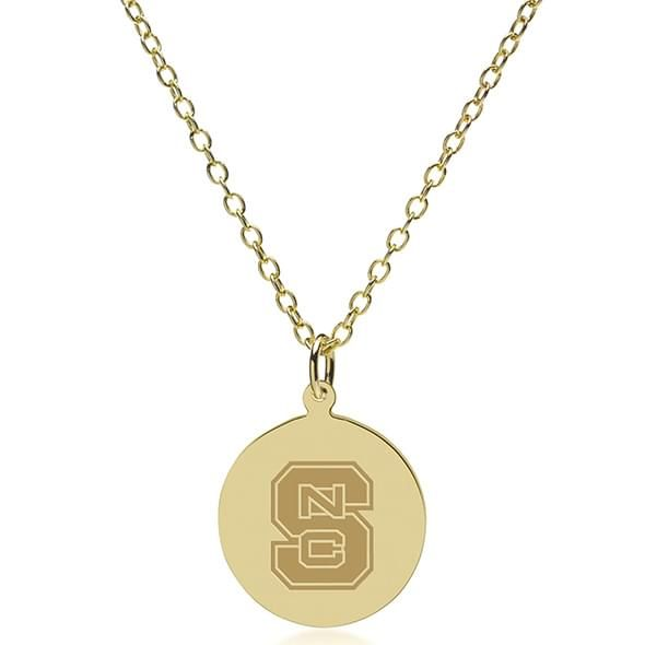 NC State 14K Gold Pendant & Chain - Image 2