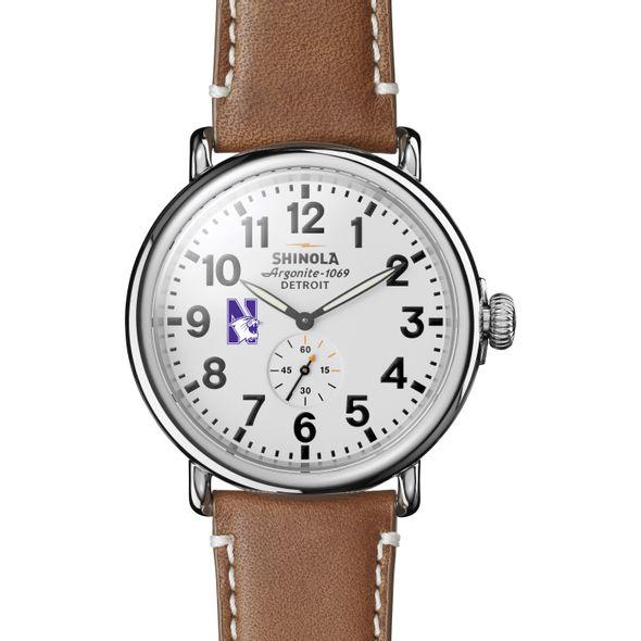 Northwestern Shinola Watch, The Runwell 47mm White Dial - Image 2