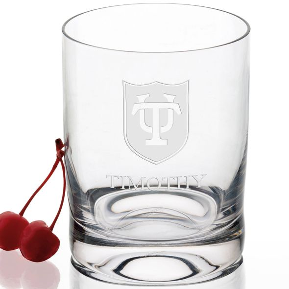 Tulane University Tumbler Glasses - Set of 2 - Image 2