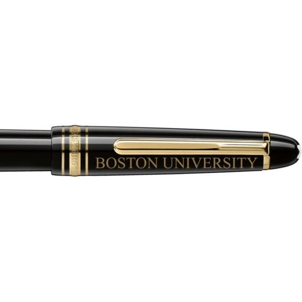 Boston University Montblanc Meisterstück Classique Fountain Pen in Gold - Image 2