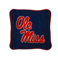 Ole Miss Handstitched Pillow