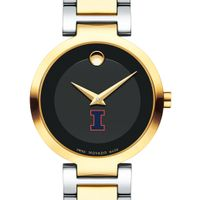 University of Illinois Women's Movado Two-Tone Modern Classic Museum with Bracelet