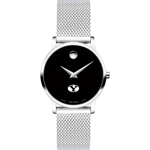 Brigham Young University Women's Movado Museum with Mesh Bracelet - Image 2