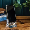 Ball State Glass Phone Holder by Simon Pearce - Image 3