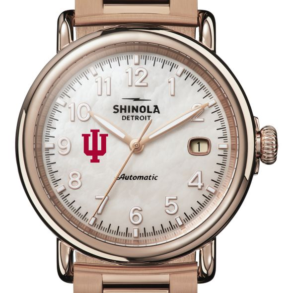 Indiana Shinola Watch, The Runwell Automatic 39.5mm MOP Dial - Image 1
