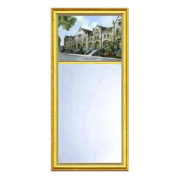 Tulane Eglomise Mirror with Gold Frame