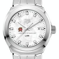 University of Maryland TAG Heuer Diamond Dial LINK for Women