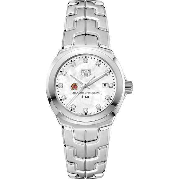 University of Maryland TAG Heuer Diamond Dial LINK for Women - Image 2
