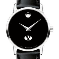 Brigham Young University Women's Movado Museum with Leather Strap