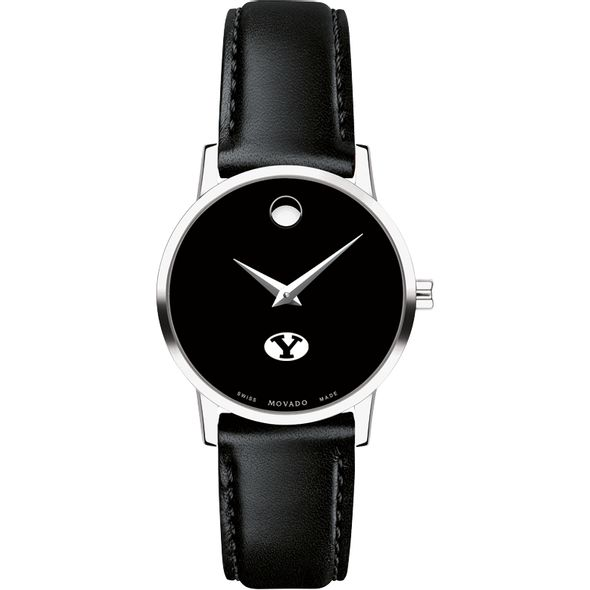 Brigham Young University Women's Movado Museum with Leather Strap - Image 2
