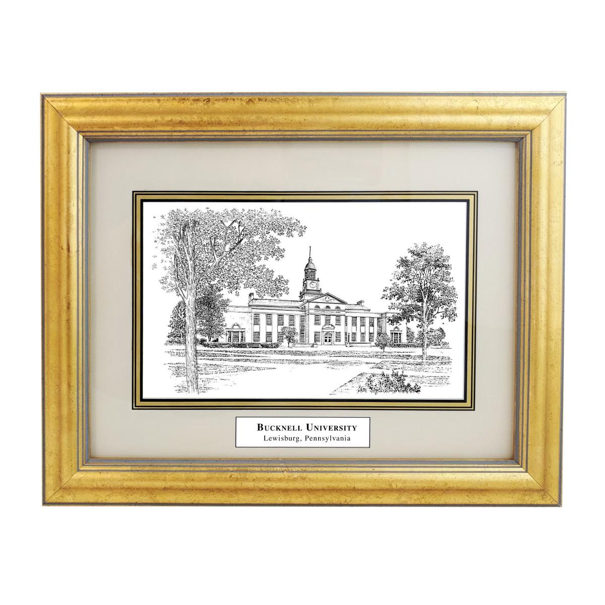 Bucknell Black Ink Gold Frame At M Lahart Amp Co