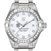 Cornell Women's TAG Heuer Steel Aquaracer with MOP Diamond Dial & Diamond Bezel