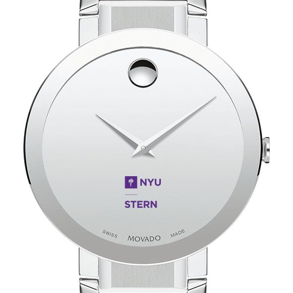 NYU Stern Men's Movado Sapphire Museum with Bracelet - Image 1