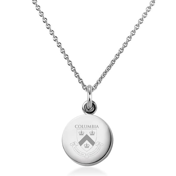 Columbia University Necklace with Charm in Sterling Silver