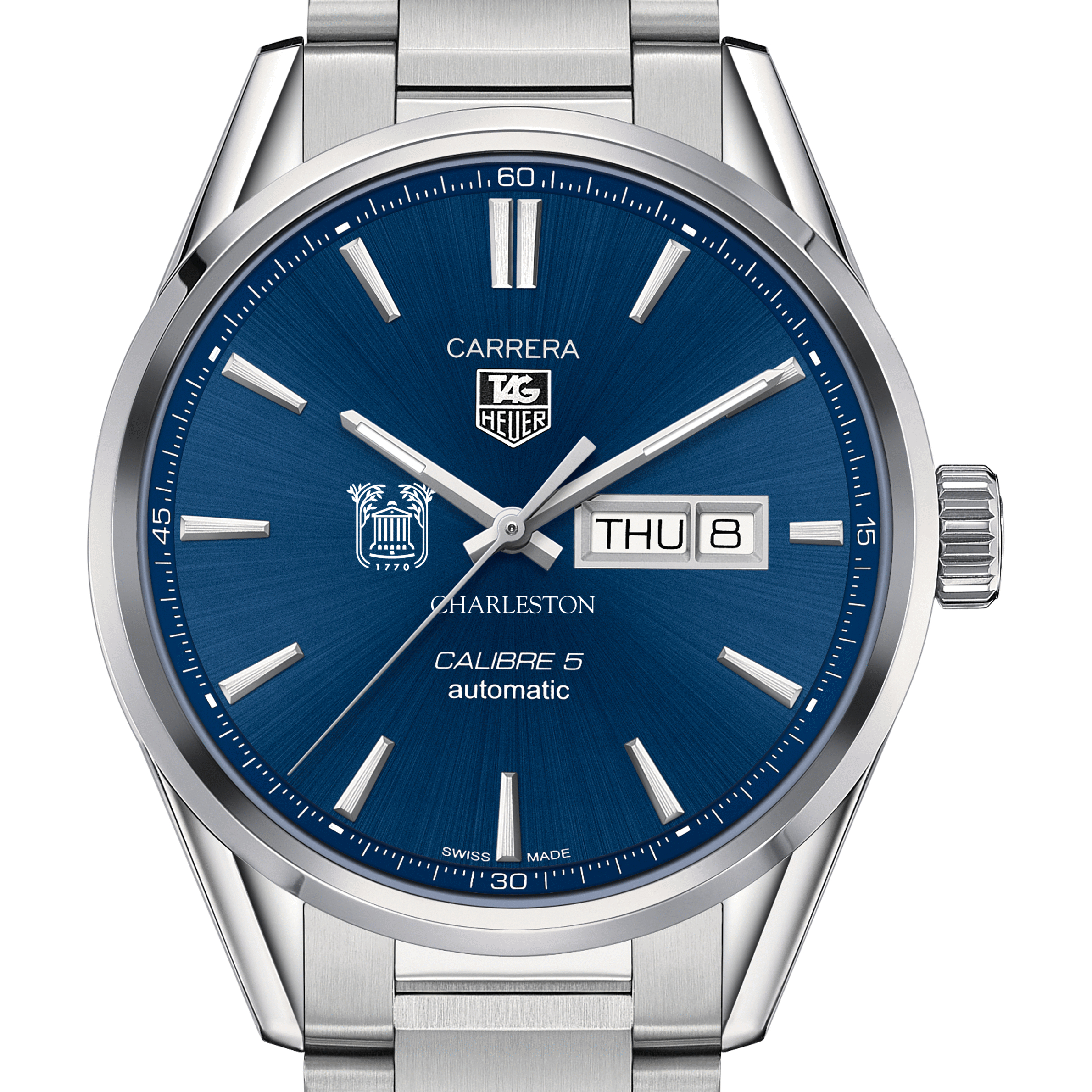 College of Charleston Men's TAG Heuer Carrera with Day-Date