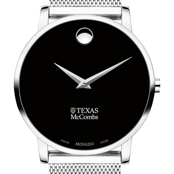 McCombs School of Business Men's Movado Museum with Mesh Bracelet - Image 1