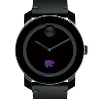 Kansas State University Men's Movado BOLD with Leather Strap