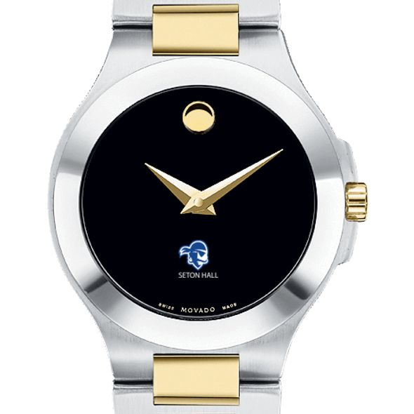 Seton Hall Women's Movado Collection Two-Tone Watch with Black Dial - Image 1