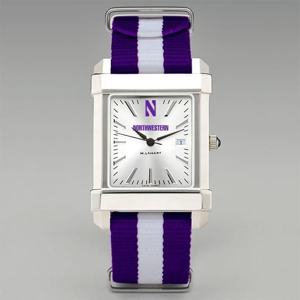 Northwestern University Collegiate Watch with NATO Strap for Men - Image 2