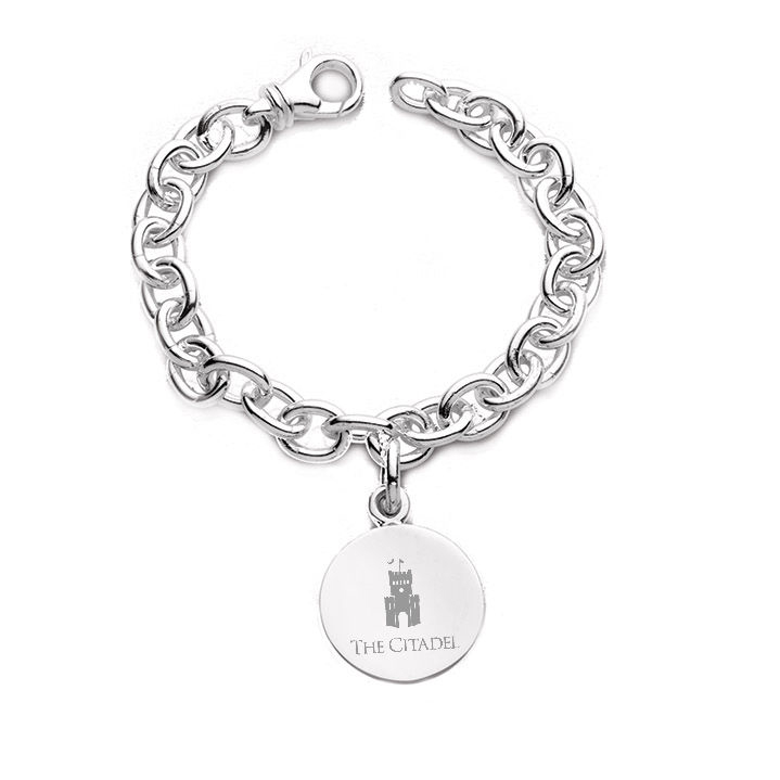 Citadel Sterling Silver Charm Bracelet