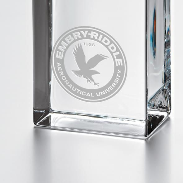 Embry-Riddle Tall Glass Desk Clock by Simon Pearce - Image 2